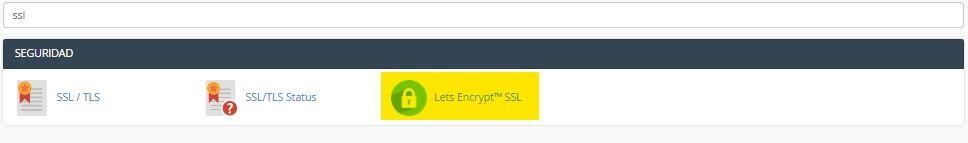 Buscar certificado ssl