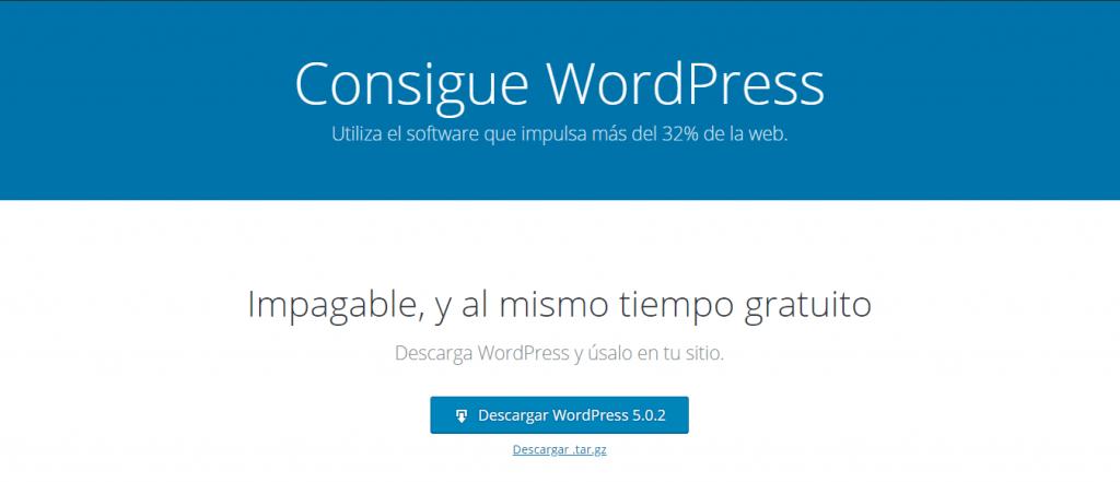 descargar wordpress para instalacion manual