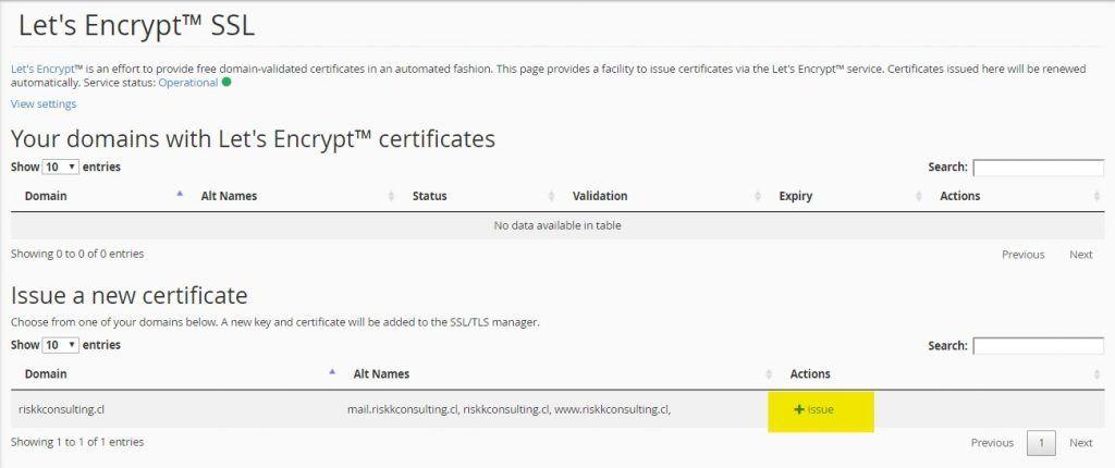 instalar certificado ssl